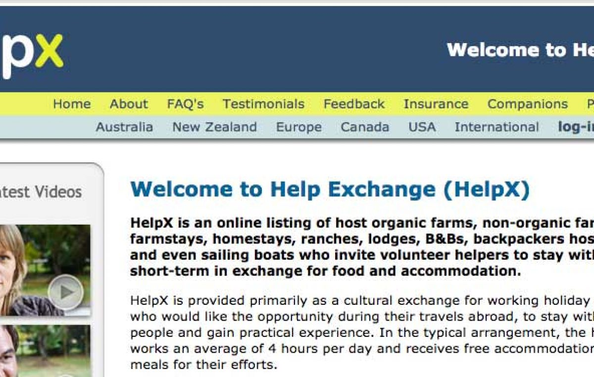 Helpx: una alternativa para viajar gratis trabajando
